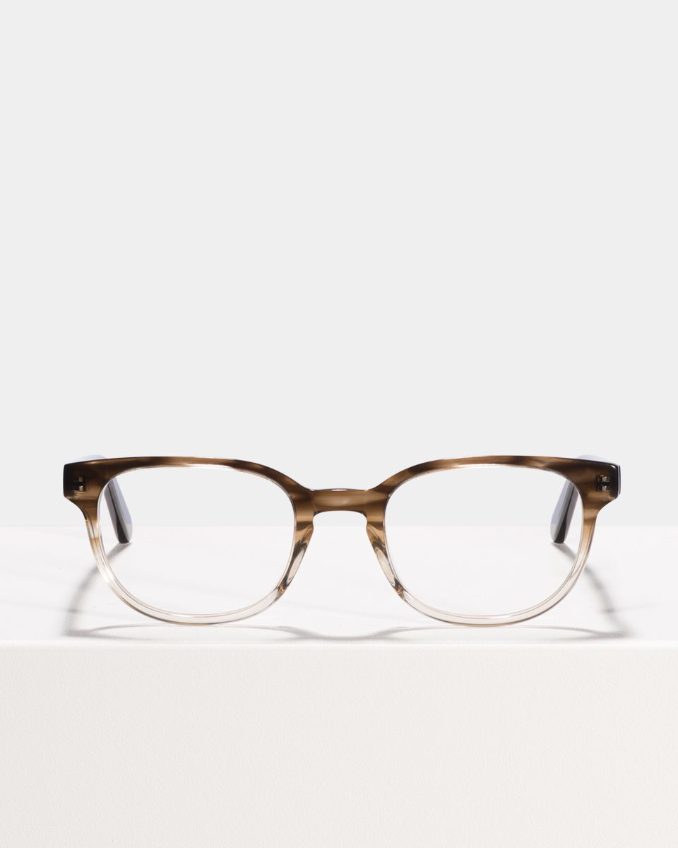 Finn rectangle acetate glasses in Espresso Gradient by Ace & Tate