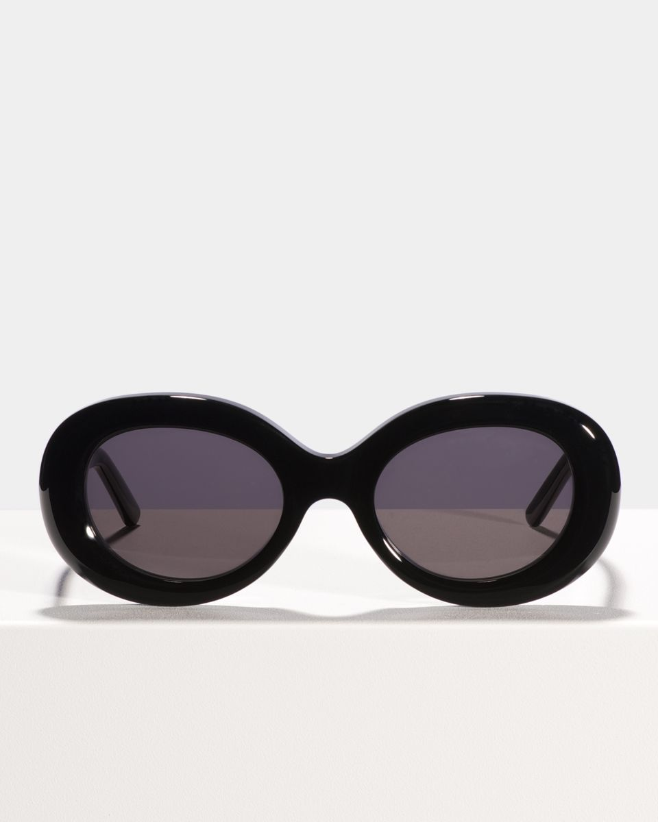 Frances oval Bio-Acetat glasses in Bio Black by Ace & Tate
