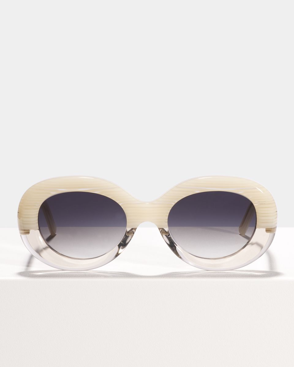 Frances oval acetate glasses in Vanilla Haze by Ace & Tate