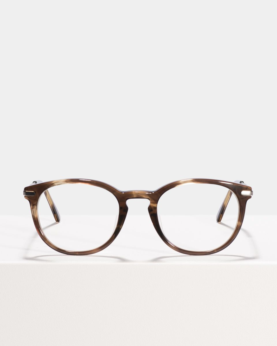 Franck vierkant combi glasses in Dark Ale by Ace & Tate
