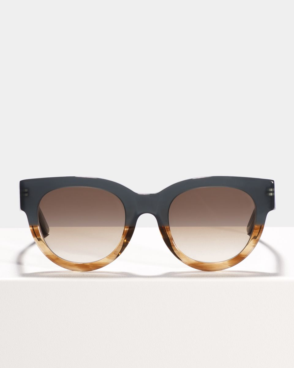 Heather round acetate glasses in Teal Oak by Ace & Tate