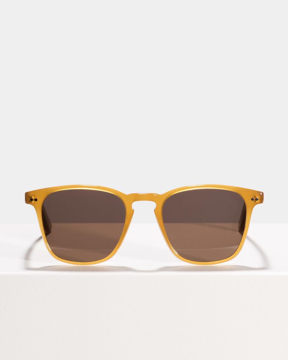 Hudson viereckig Acetat glasses in Caramel by Ace & Tate