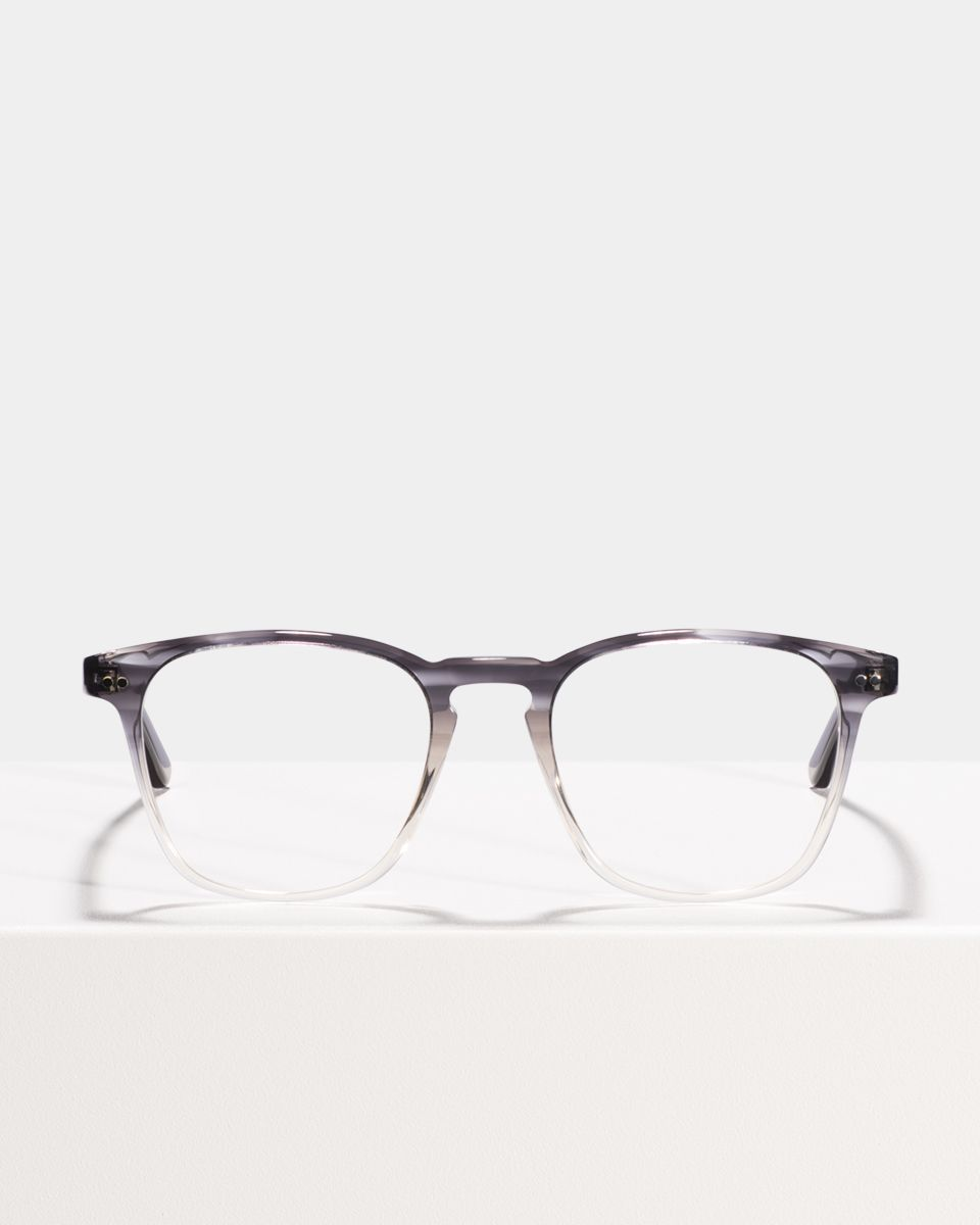 Hudson vierkant acetaat glasses in Charcoal Gradient by Ace & Tate
