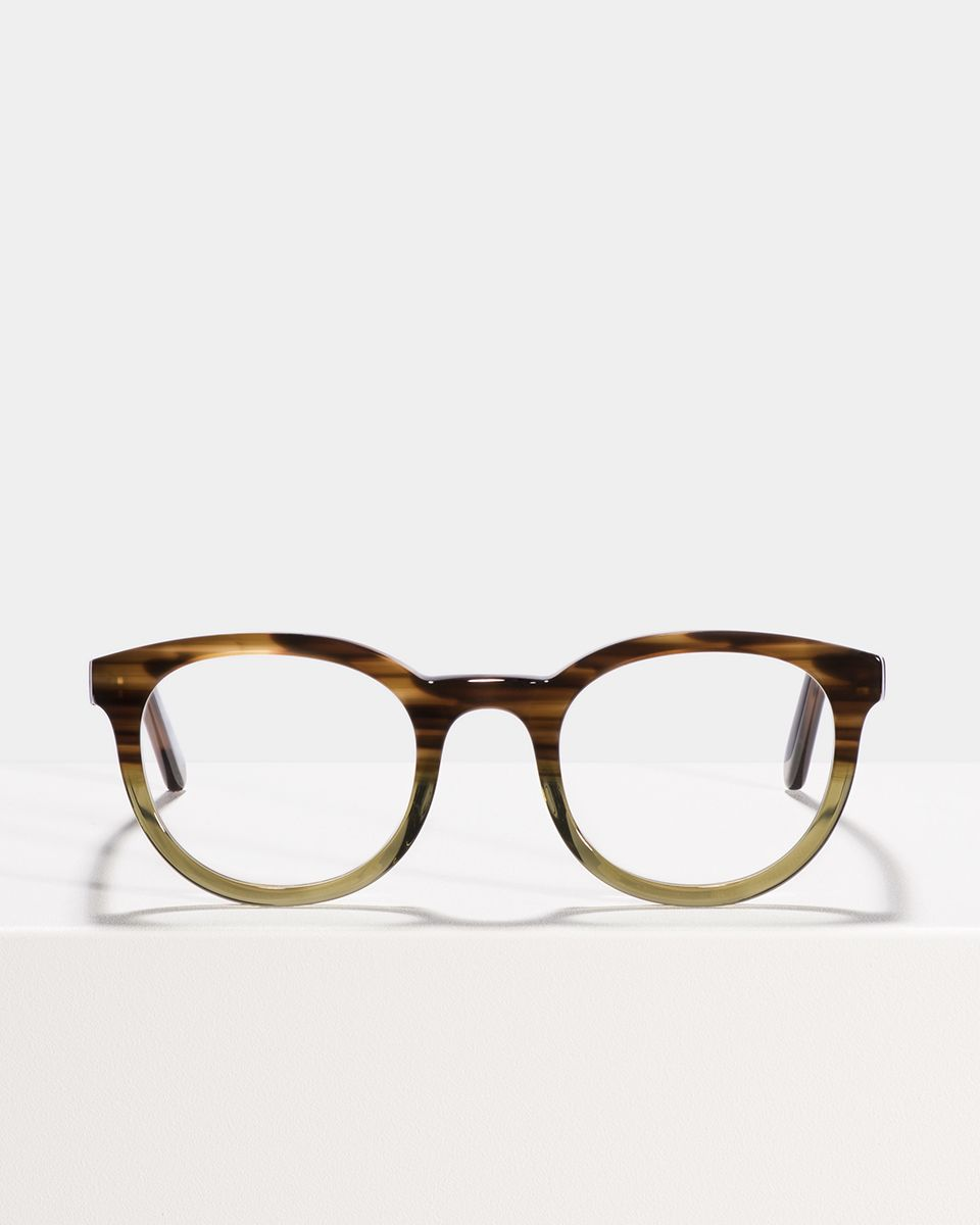 Hugo rond acetaat glasses in Hunter Green by Ace & Tate