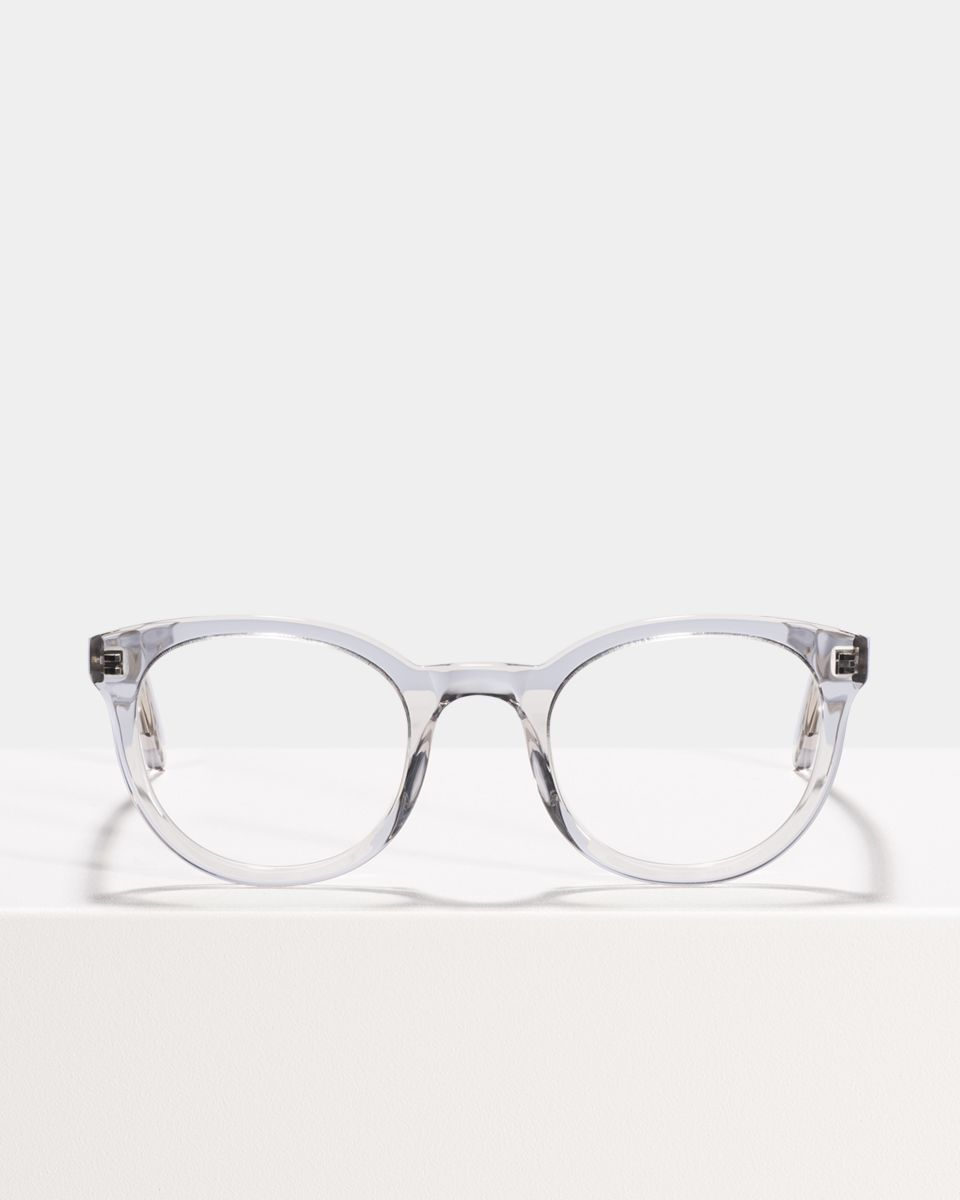 Hugo rond acetaat glasses in Smoke by Ace & Tate