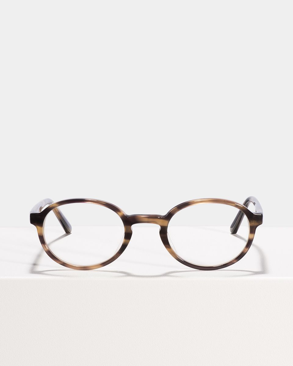 Jones oval Acetat glasses in Taupe Tortoise by Ace & Tate