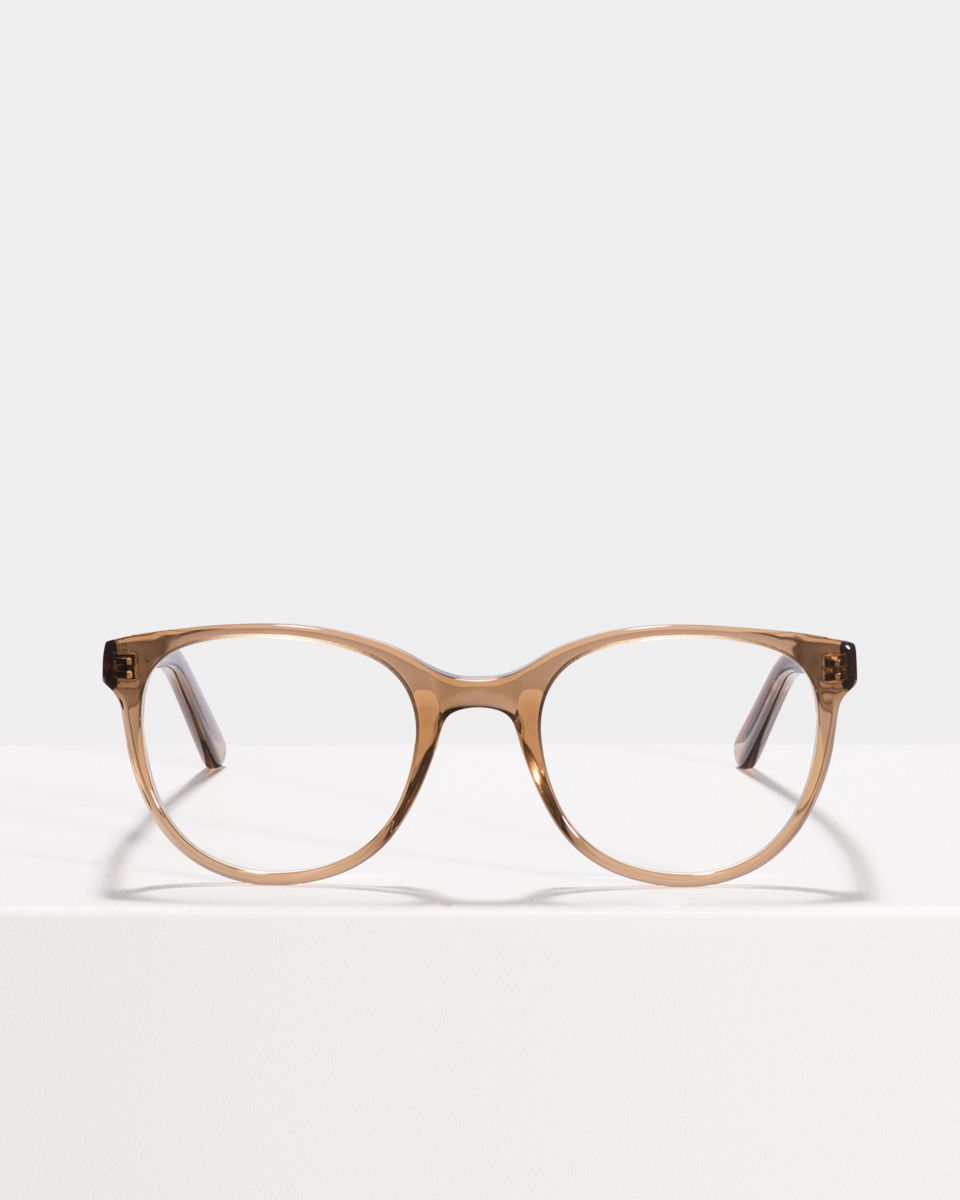 Lola rund Acetat glasses in Golden Brown by Ace & Tate