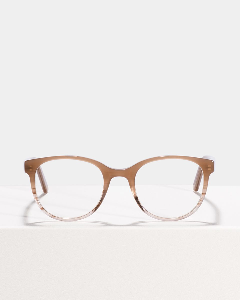 Lola round acetate glasses in Misty Mauve by Ace & Tate