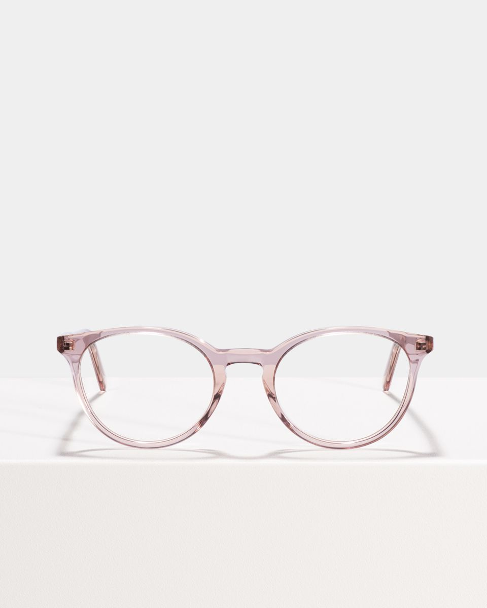 Max round acetate glasses in Blush by Ace & Tate