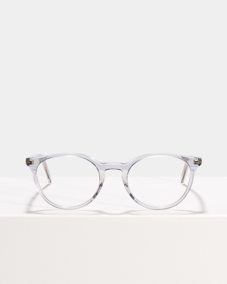 Max rond acetaat glasses in Smoke by Ace & Tate