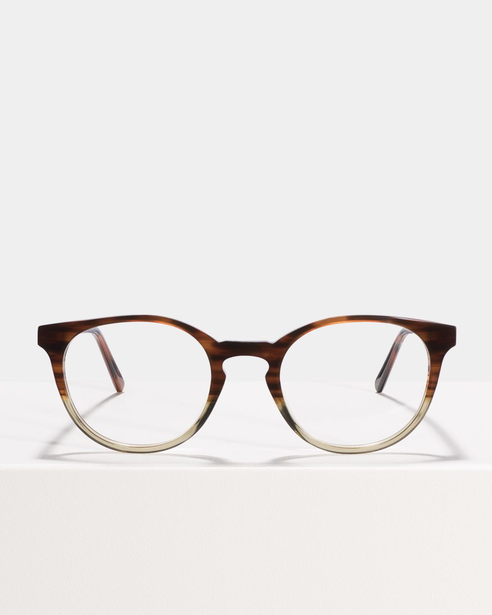 Miles Large rond acetaat glasses in Hunter Green by Ace & Tate