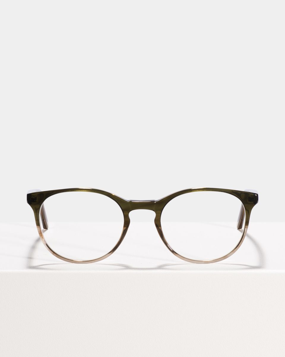 Miles round acetate glasses in Olive Gradient by Ace & Tate