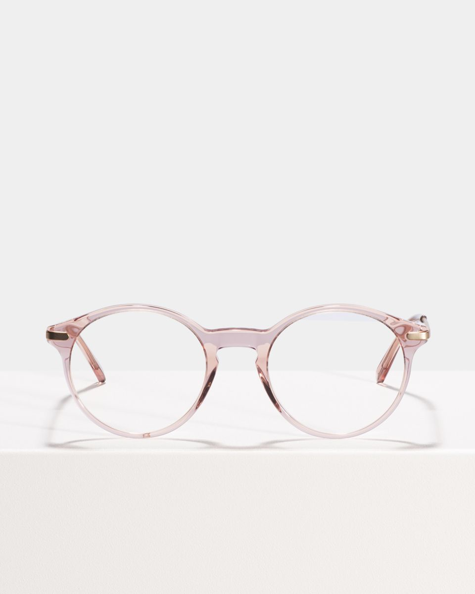Monty Metal Temple round combi glasses in Blush by Ace & Tate