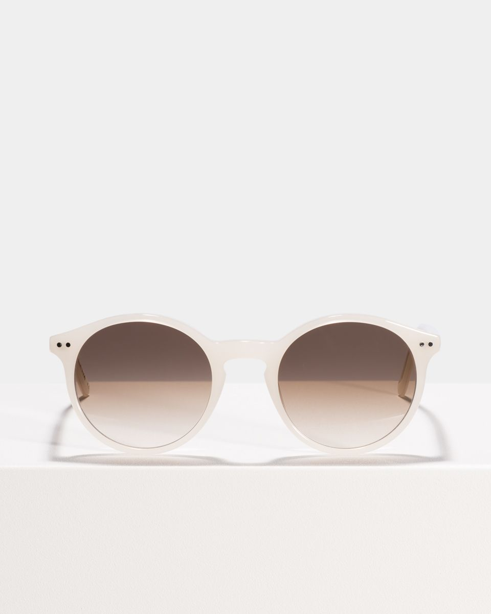 Monty round acetate glasses in Pearl by Ace & Tate