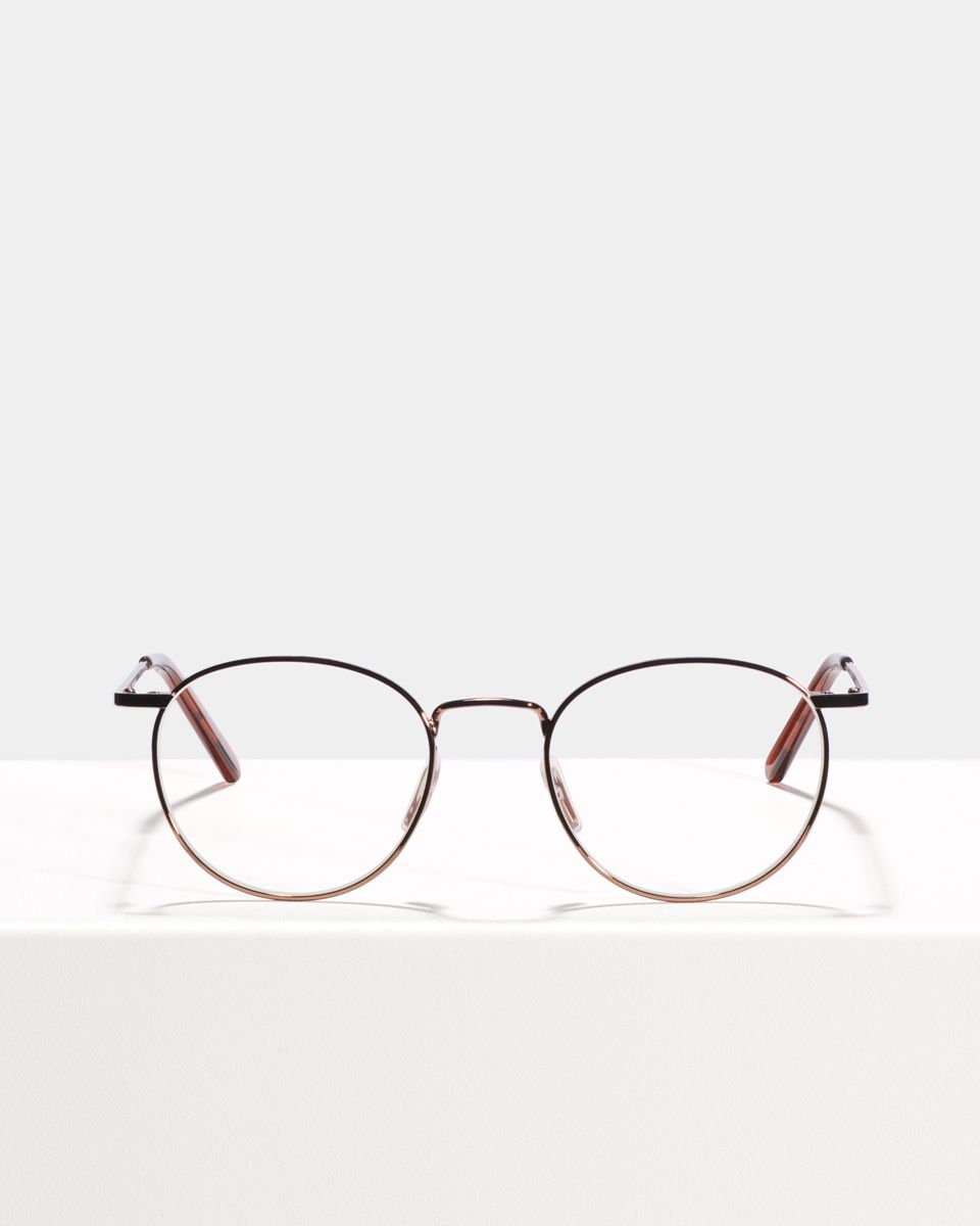 Neil ronde métal glasses in Saffron by Ace & Tate
