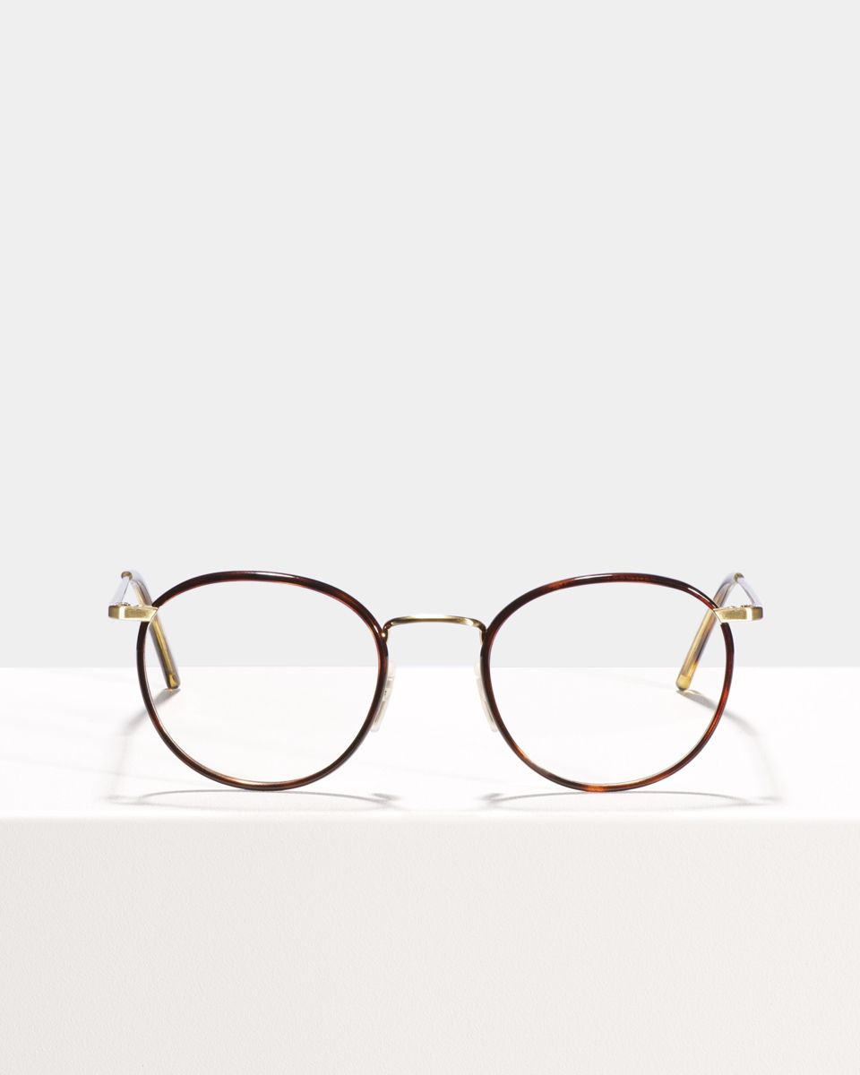 Neil round metal glasses in Tiger Wood by Ace & Tate