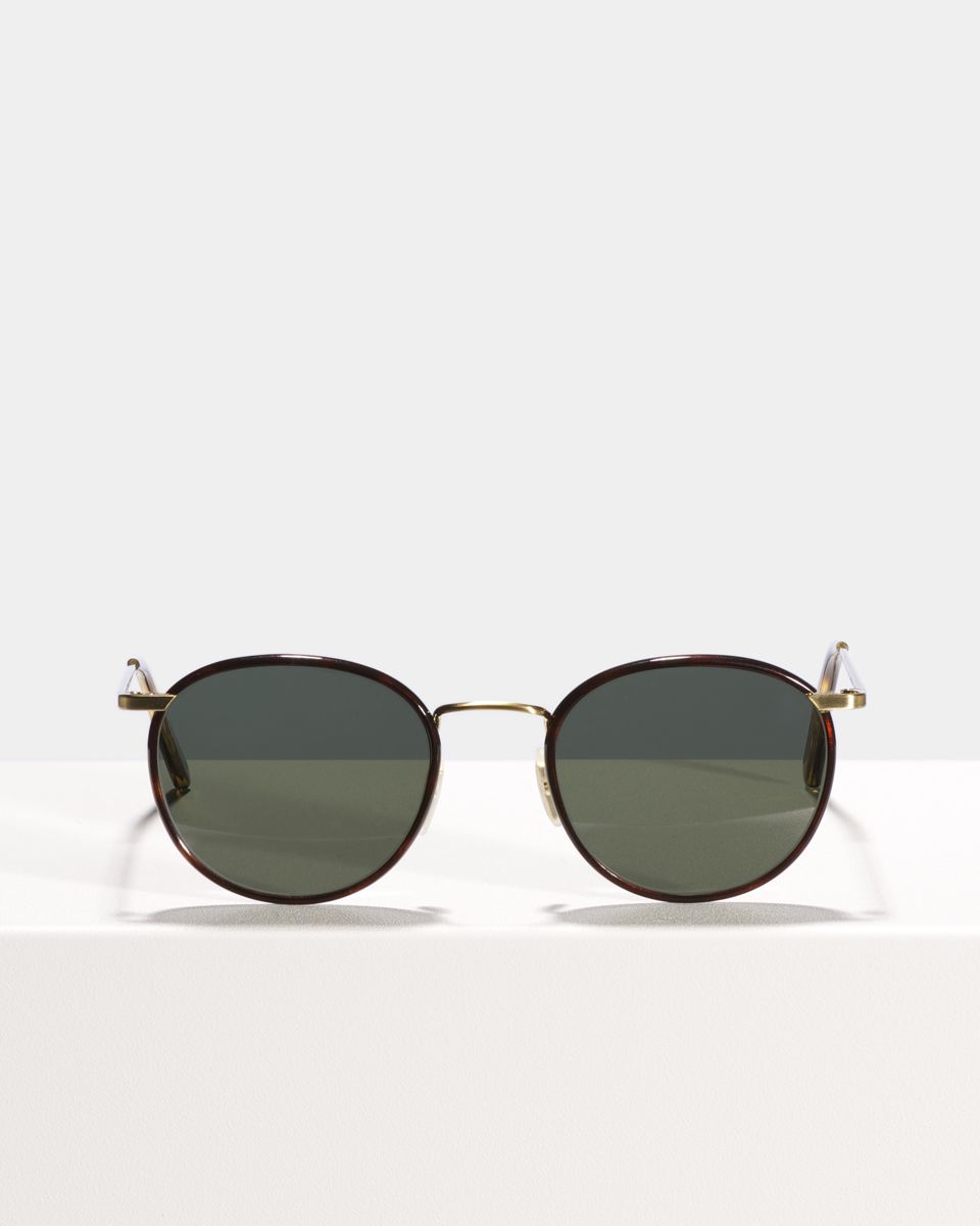 Neil rund Metall glasses in Tiger Wood by Ace & Tate