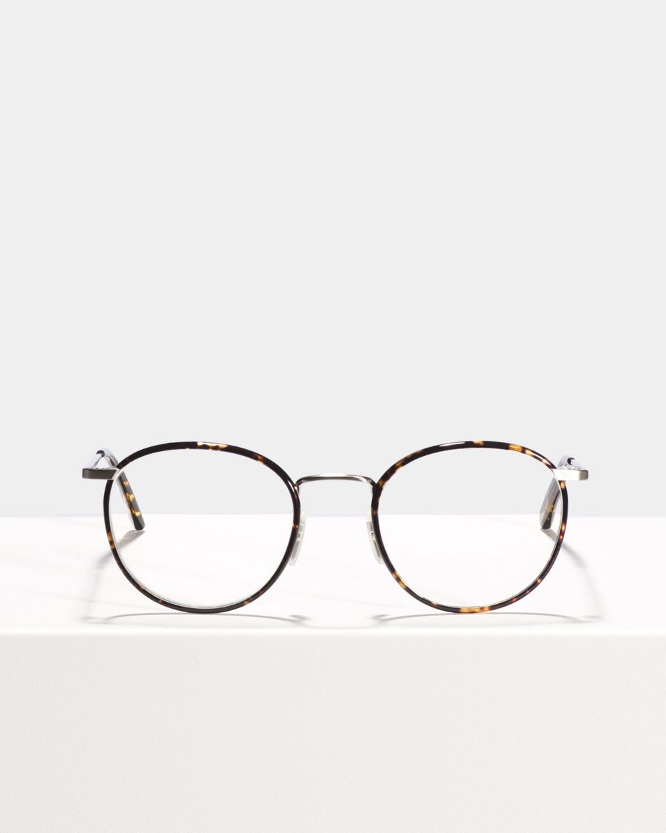 Neil round combi glasses in Spotted Havana by Ace & Tate