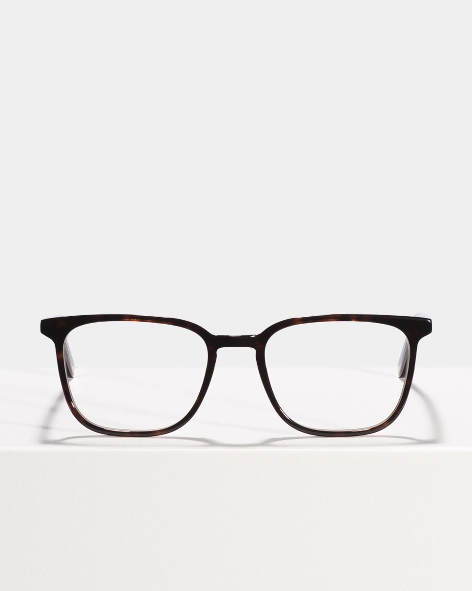 Nelson rechteckig Acetat glasses in Black Forest by Ace & Tate