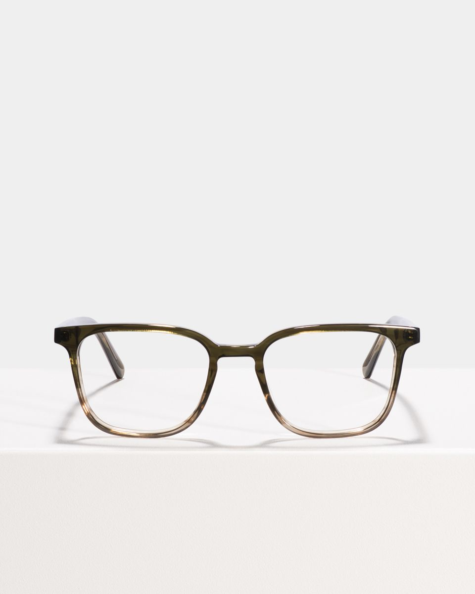 Nelson Small rechteckig Acetat glasses in Olive Gradient by Ace & Tate