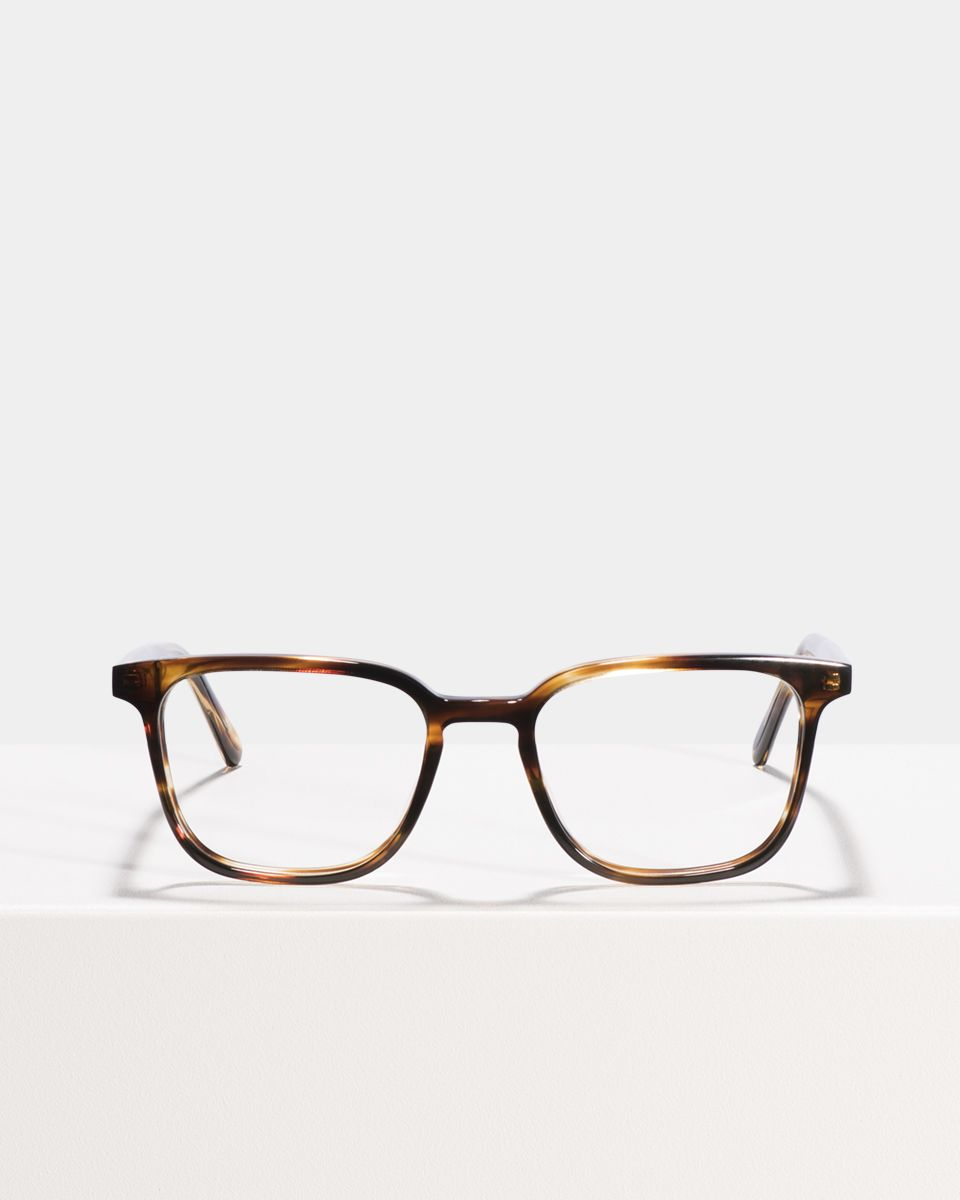 Nelson Small rechthoek acetaat glasses in Tiger Wood by Ace & Tate