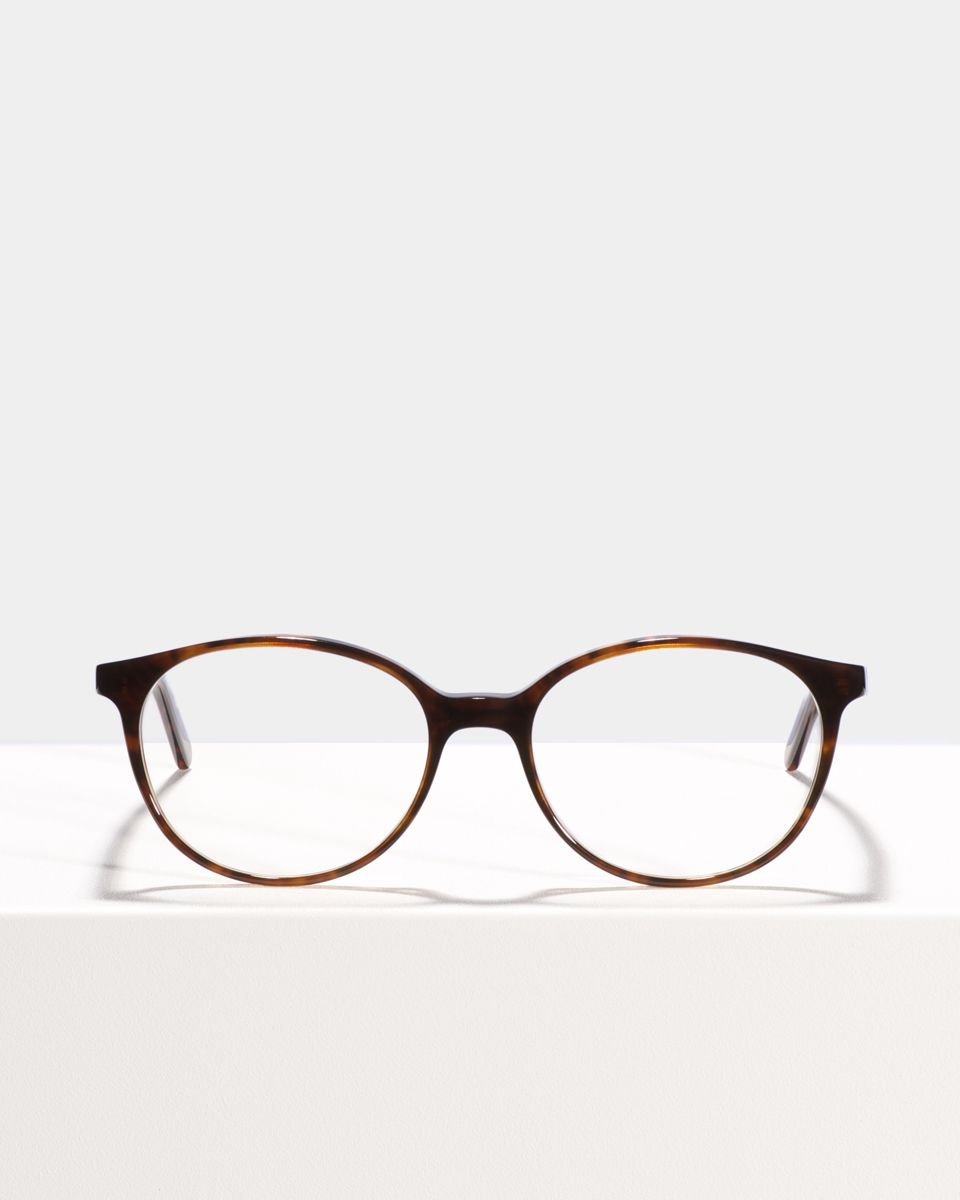 Nina rond acetaat glasses in Rosewood by Ace & Tate