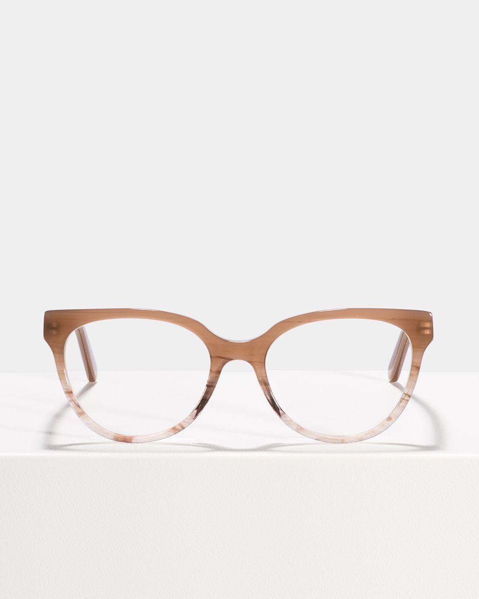 Phoebe round acetate glasses in Misty Mauve by Ace & Tate