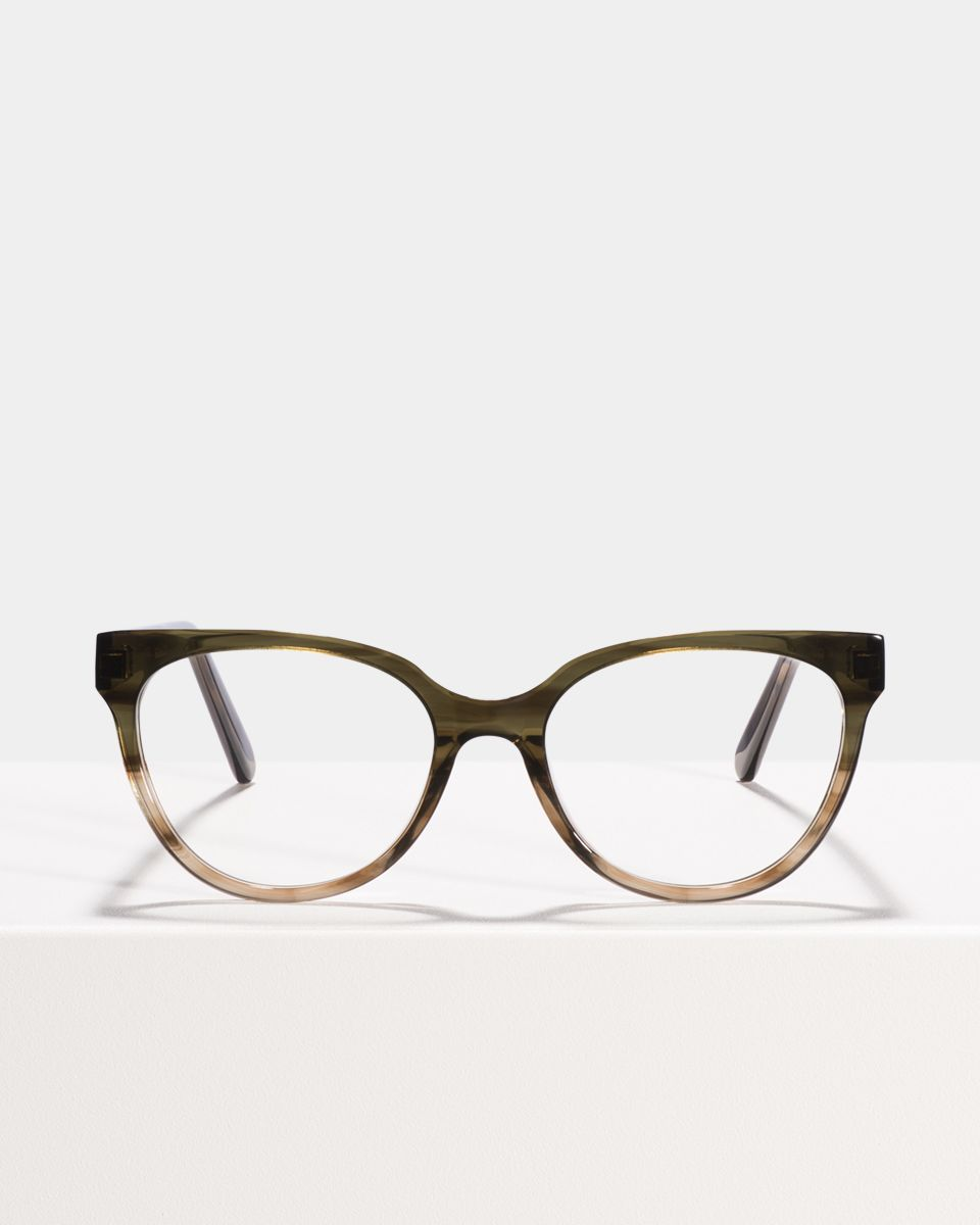 Phoebe round acetate glasses in Olive Gradient by Ace & Tate