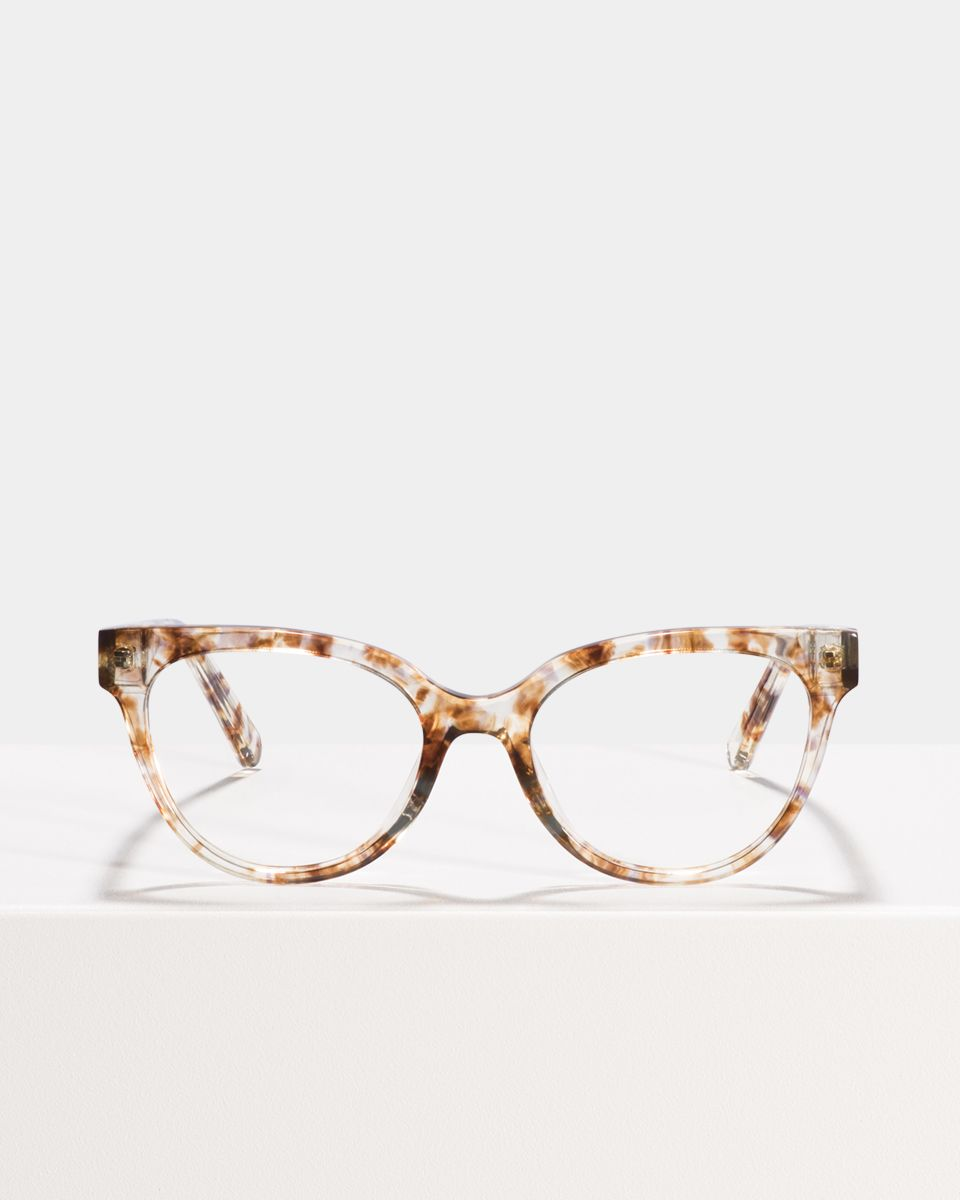 Phoebe Small rond acetaat glasses in Gold Dust by Ace & Tate