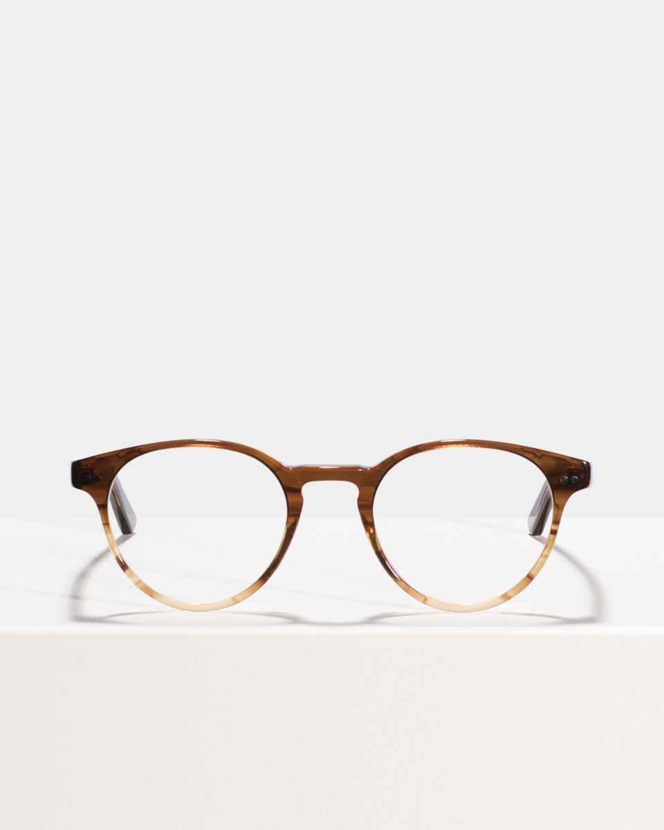 Pierce rund Acetat glasses in Chocolate Havana Fade by Ace & Tate