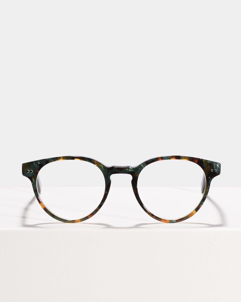 Pierce Large round acetate glasses in Peacock by Ace & Tate