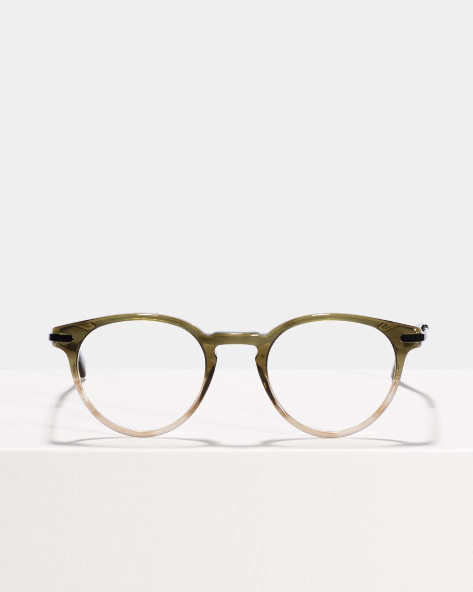 Pierce Metal Temple round combi glasses in Olive Gradient by Ace & Tate