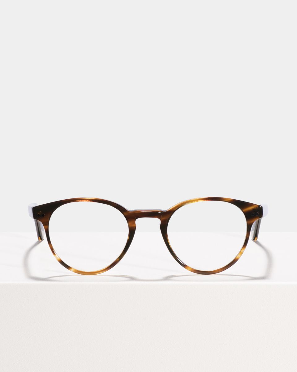 Pierce acetato glasses in Tigerwood by Ace & Tate