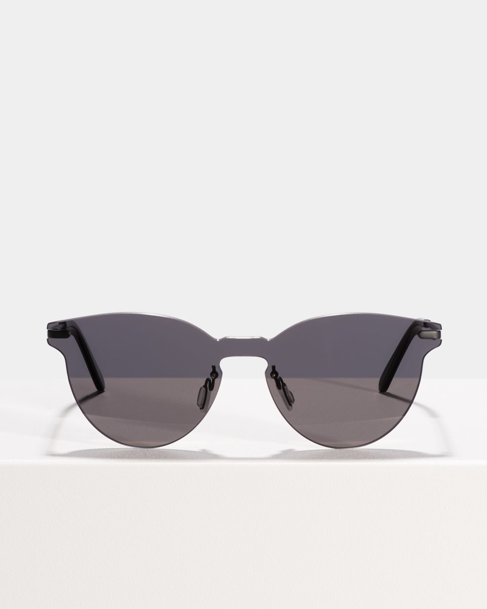 Ralf rund Metall glasses in Grey by Ace & Tate