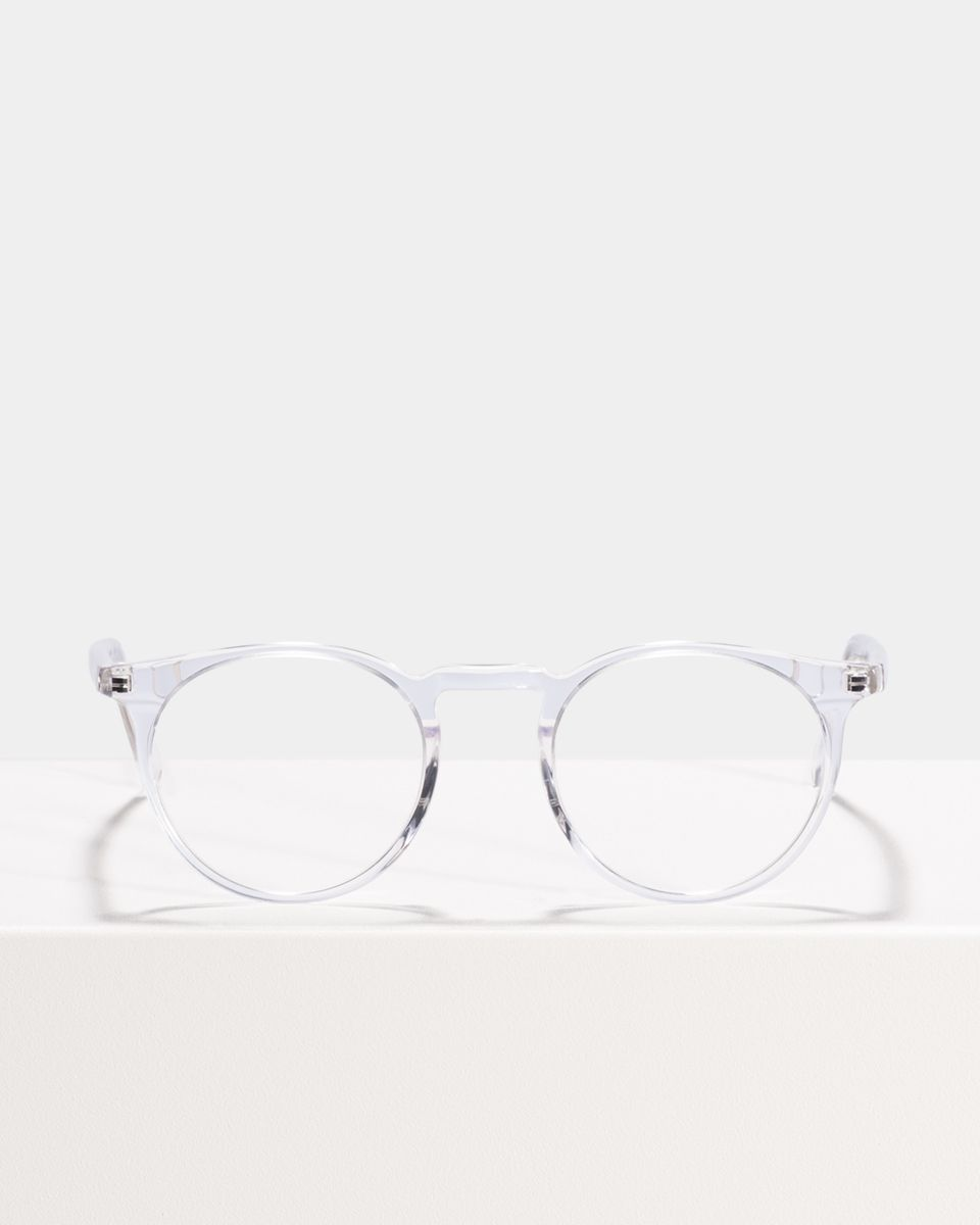 Roth rund Acetat glasses in Crystal by Ace & Tate