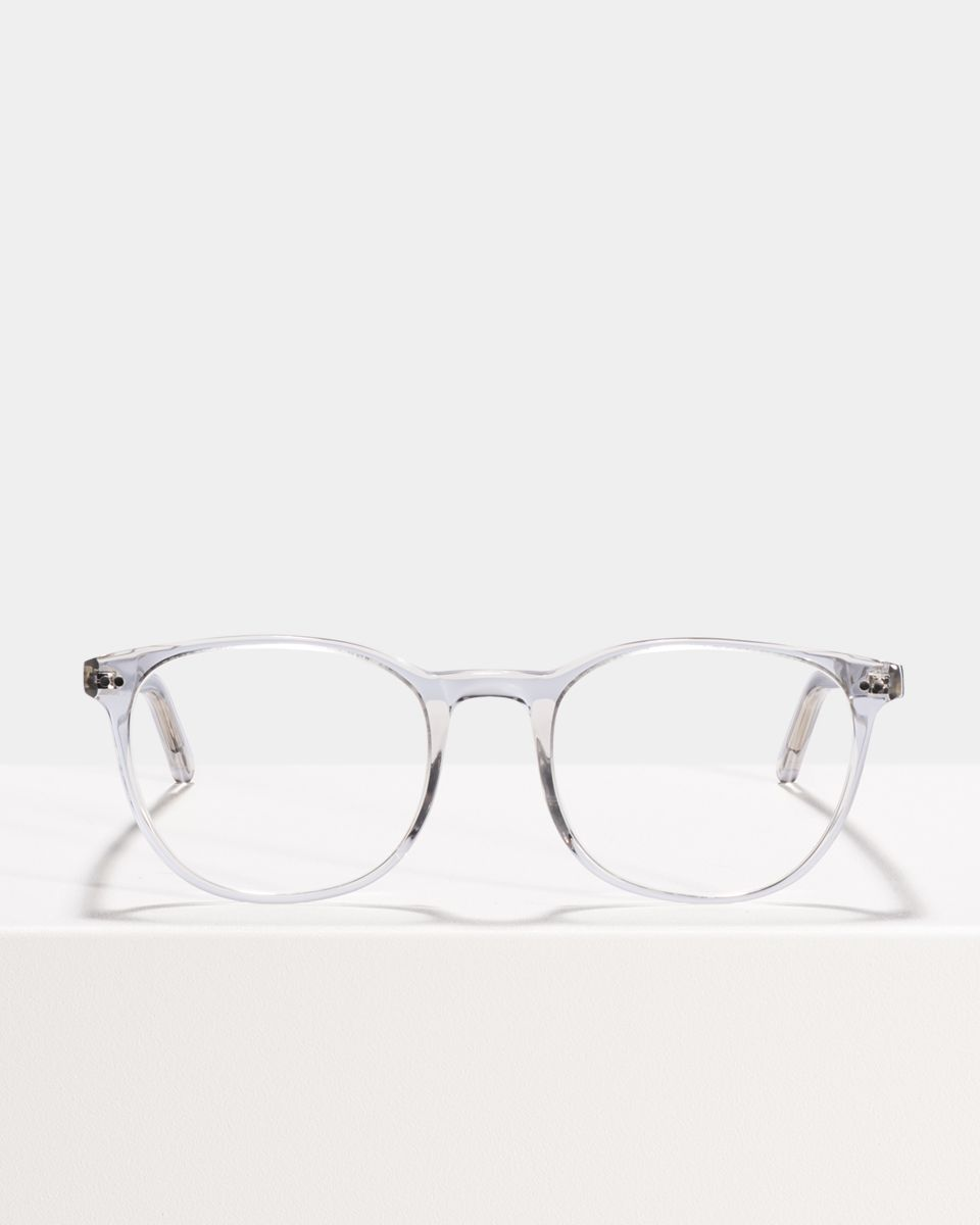 Saul round acetate glasses in Smoke by Ace & Tate