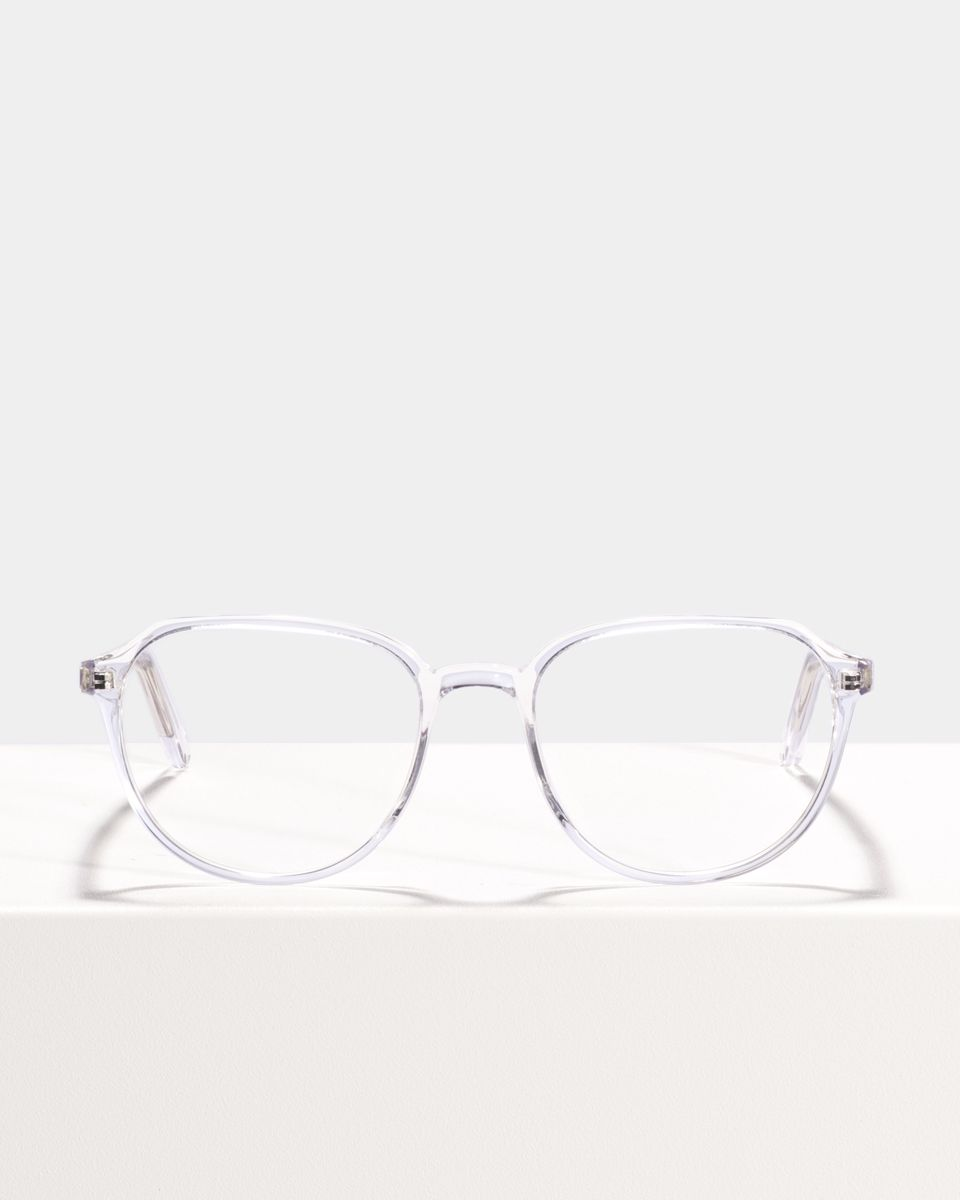 Stan rond acetaat glasses in Crystal by Ace & Tate
