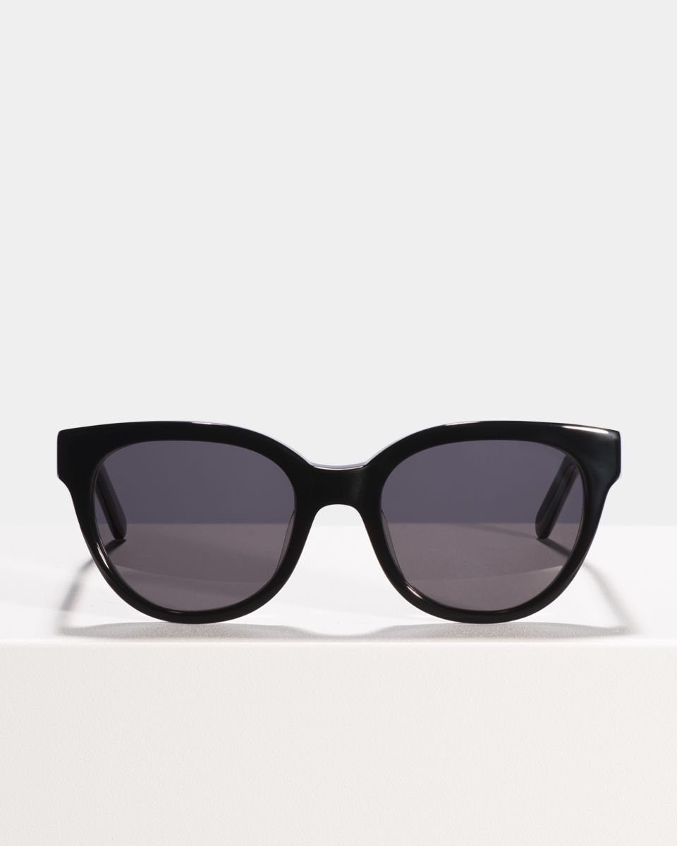 Suzy round bio acetate glasses in Bio Black by Ace & Tate