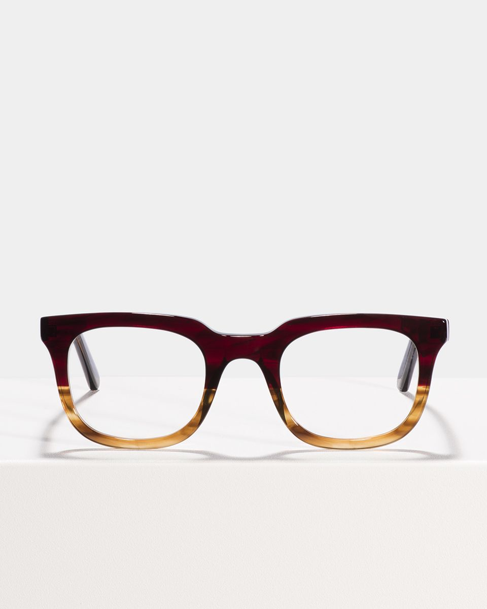 Teller rectangle acetate glasses in Red Havana by Ace & Tate