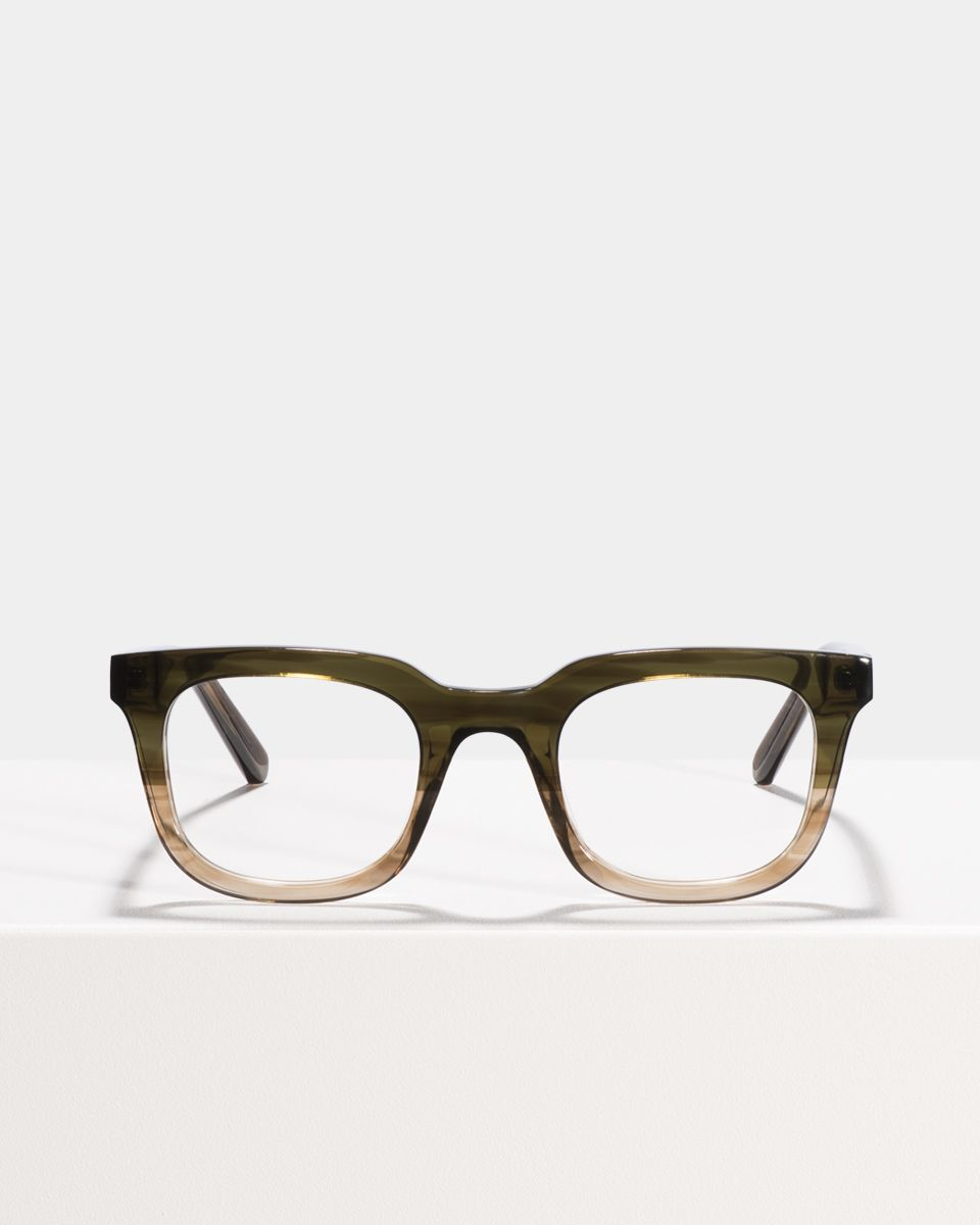 Teller Small rechteckig Acetat glasses in Olive Gradient by Ace & Tate