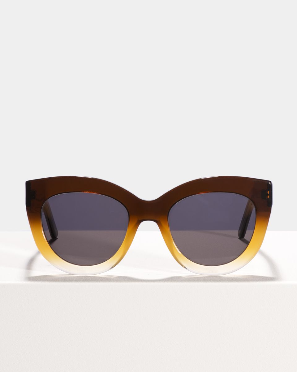 Vic round acetate glasses in Amber Fade by Ace & Tate
