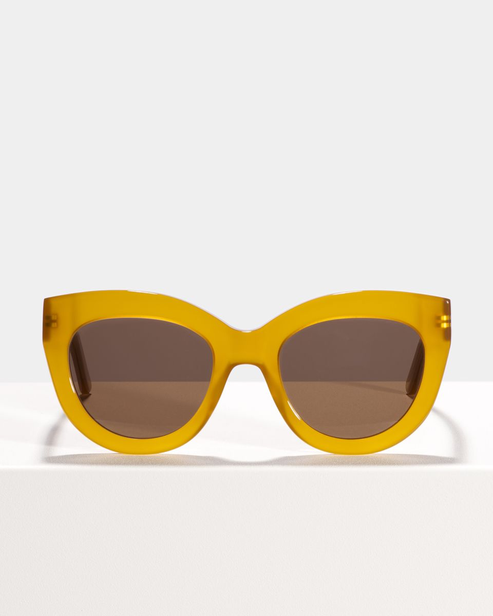 Vic rund Acetat glasses in Caramel by Ace & Tate