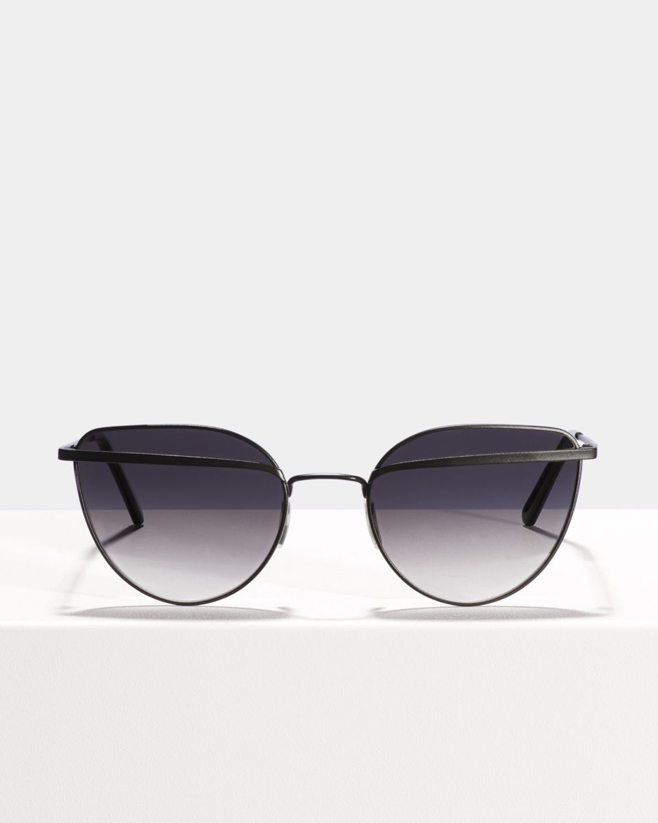 Vivian rund Metall glasses in Matte Black by Ace & Tate