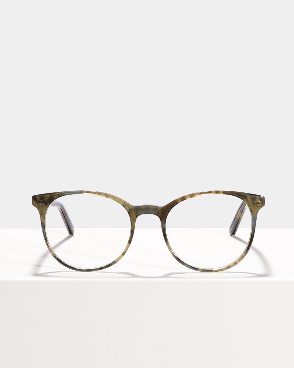 Wes round acetate glasses in Marbled Green by Ace & Tate