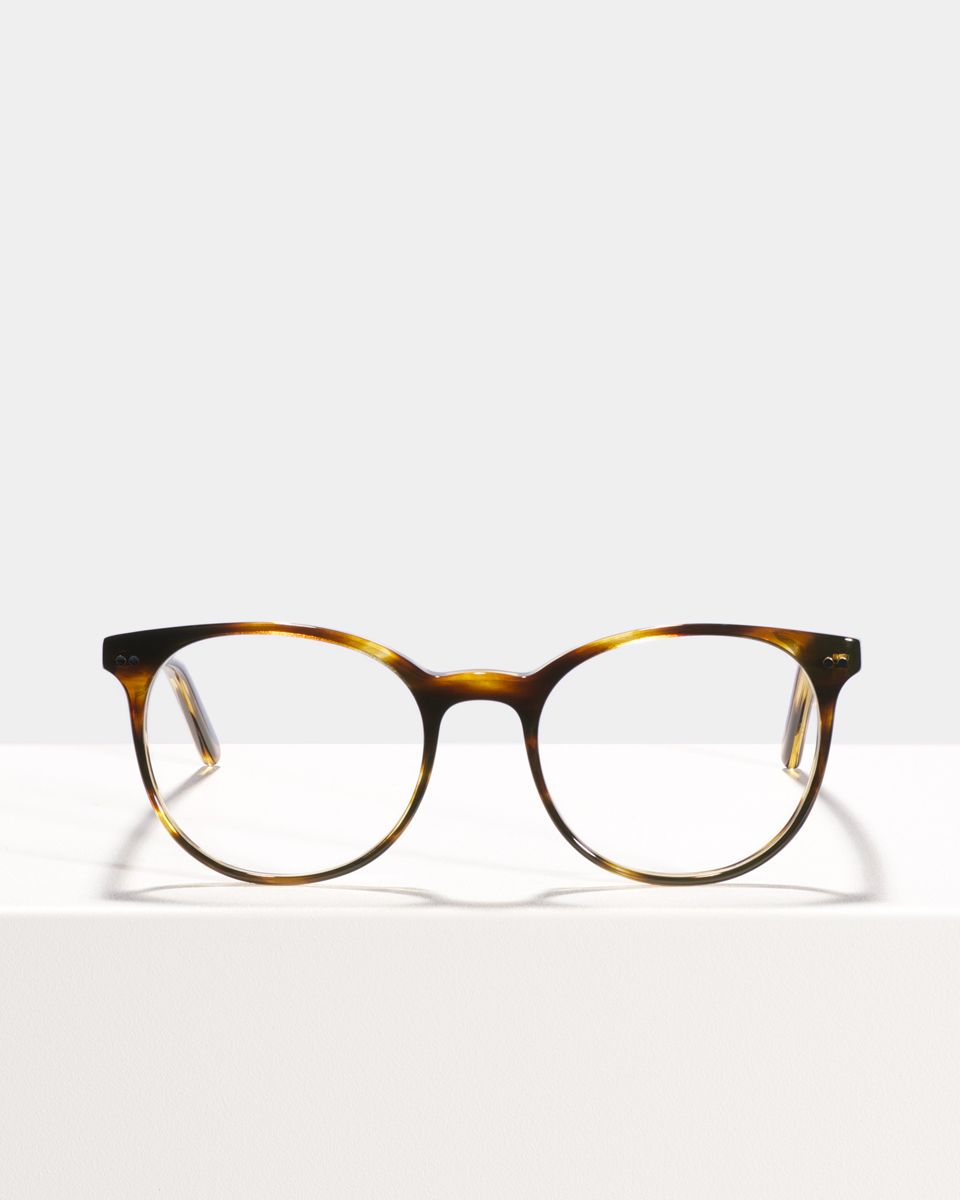 Wes acetaat glasses in Tigerwood by Ace & Tate