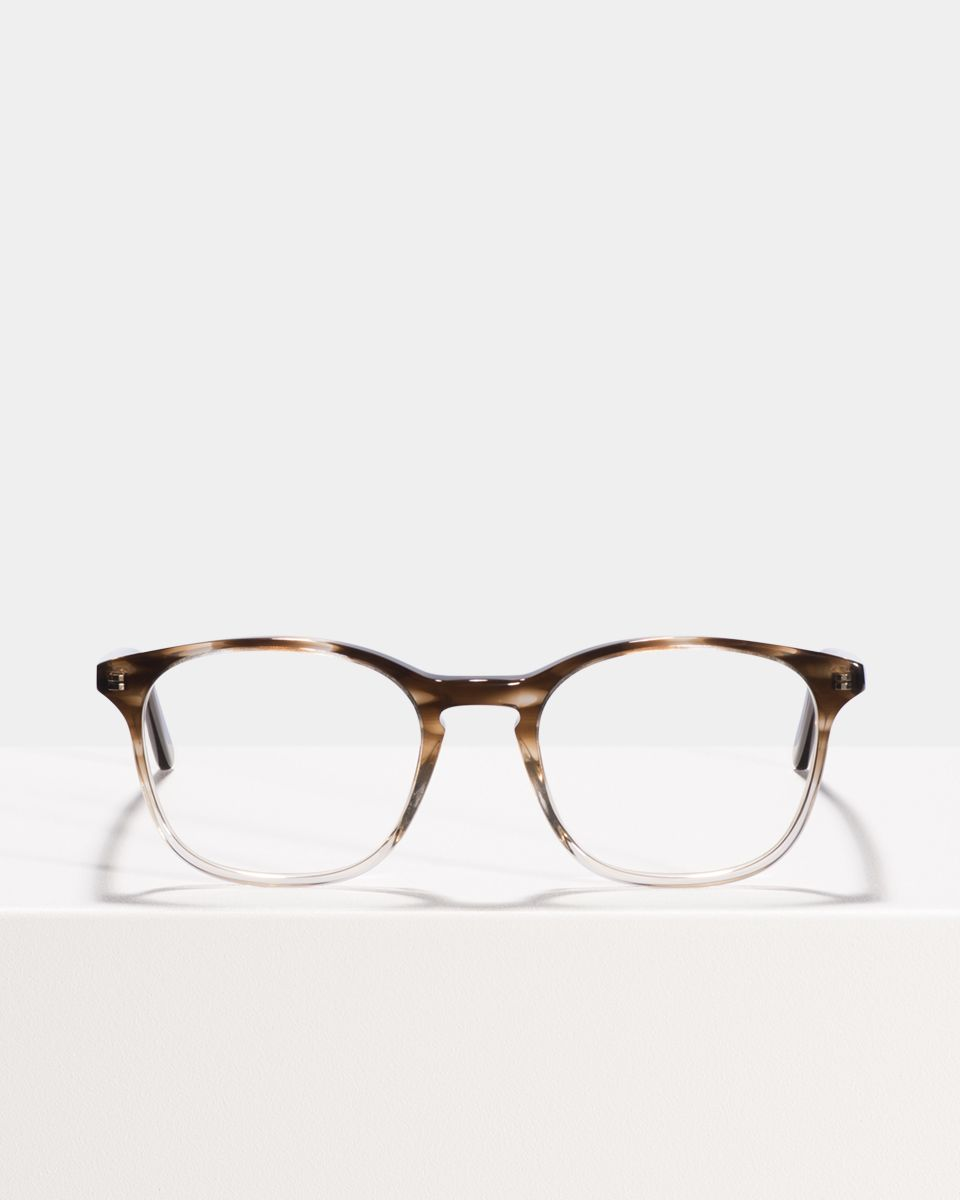 Wilson square acetate glasses in Espresso Gradient by Ace & Tate