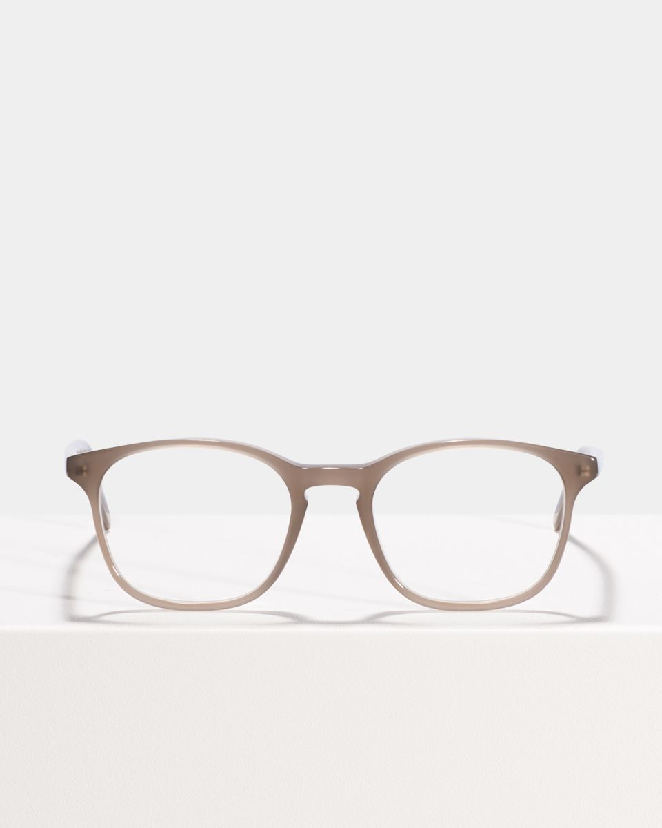 Wilson square acetate glasses in Greyhound Grey by Ace & Tate