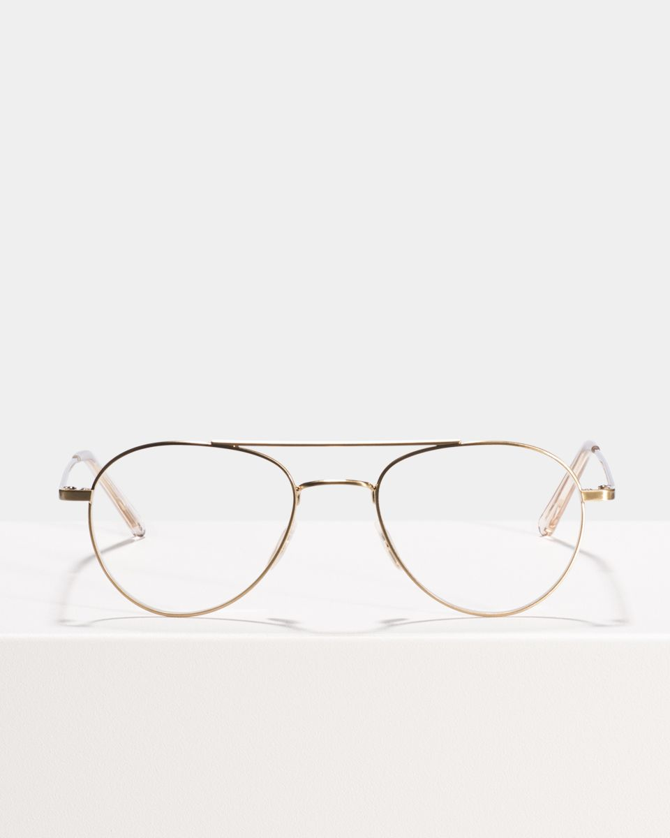 Wright other metaal glasses in Satin Gold by Ace & Tate
