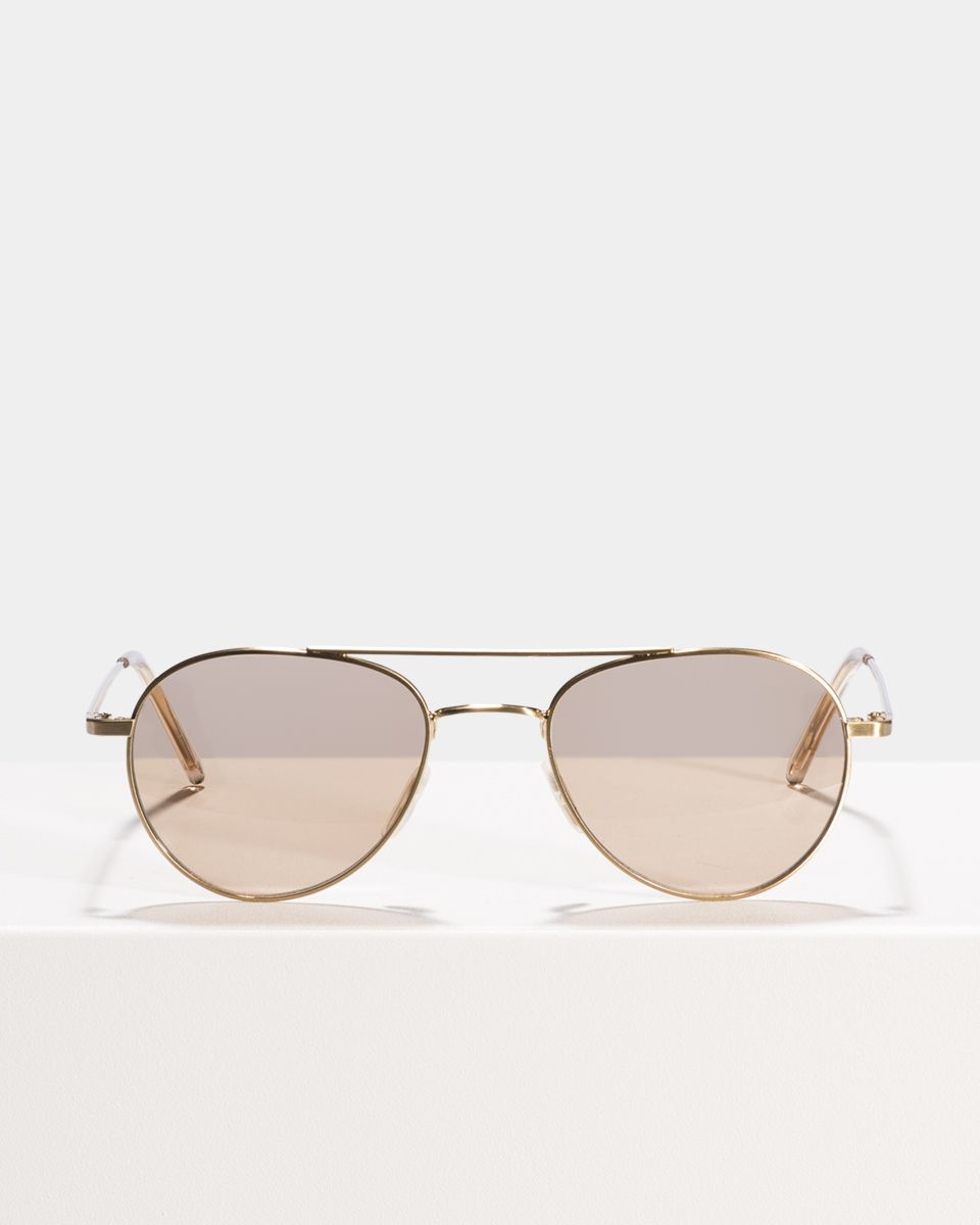 Wright other métal glasses in Satin Gold by Ace & Tate