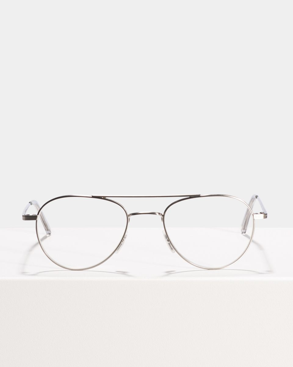 Wright other metaal glasses in Satin Silver by Ace & Tate